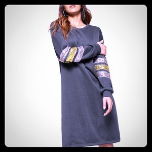 Dresses & Skirts - AMAZING SEQUIN SWEATSHIRT DRESS